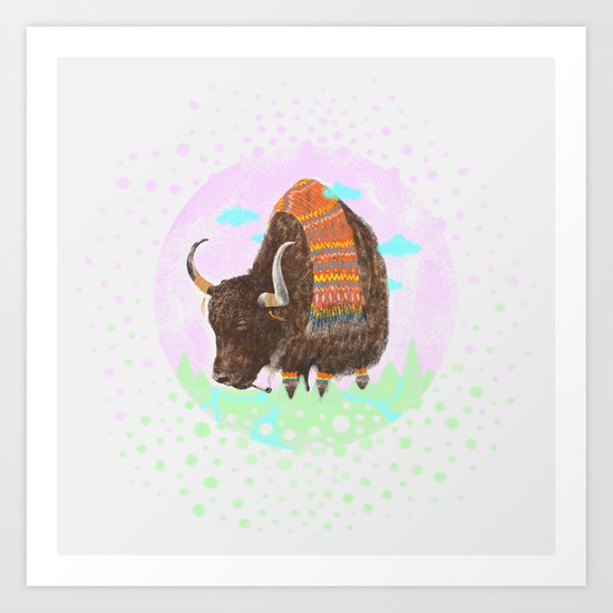Bison II Art Print