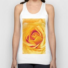 Gold Rose Bud- Yellow Roses and flowers Unisex Tank Top