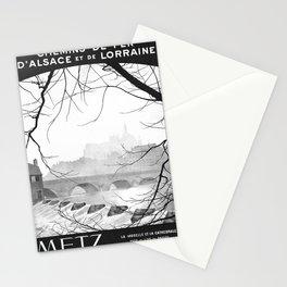 retro monochrome Metz Stationery Cards