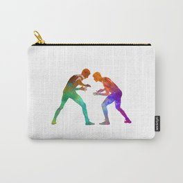 Wrestlers wrestling men 01 in watercolor Carry-All Pouch