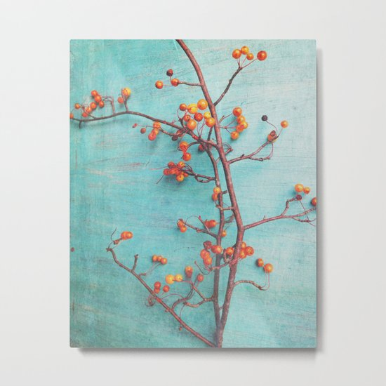She Hung Her Dreams on Branches Metal Print