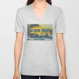 Back to School - The Yellow School Bus Unisex V-Neck
