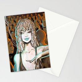 Night Life orange Stationery Cards