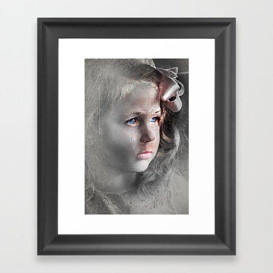 Girl with Bow Framed Art Print