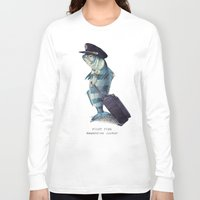 hat Long Sleeve T-shirts featuring The Pilot by Eric Fan