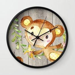 Monkey Fun Wall Clock
