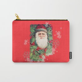 SANTA CLAUS with Stainled Glass effect Carry-All Pouch