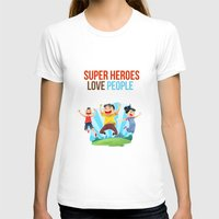 super heroes T-shirts featuring Super Heroes Love People by youngmindz