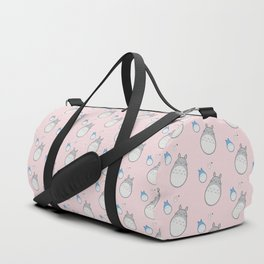 My Neighbor Pattern (Pink) Duffle Bag