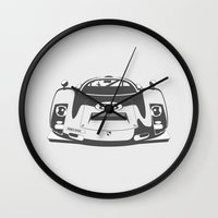 porsche Wall Clocks featuring Porsche 906 by Remove Before . . .