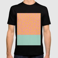 Peach Fuzz and Pit MEDIUM Black Mens Fitted Tee