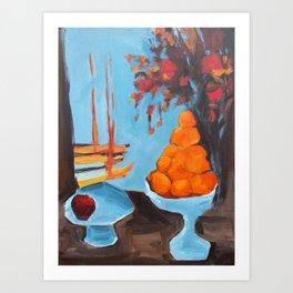 golden girls fruit bowl Art Print