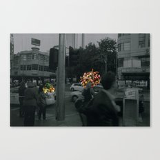 Street people collage series Canvas Print