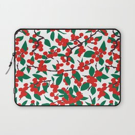 Holiday Winterberries + Branches Laptop Sleeve