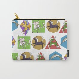 Geometric Unicorns Carry-All Pouch