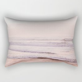 Dreamy Pink Pacific Beach Rectangular Pillow