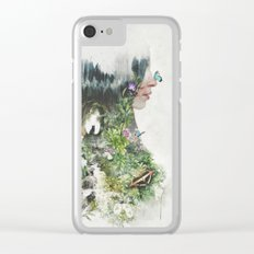 Cat in the Garden of Your Mind Clear iPhone Case