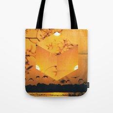 Hexagon Sunset Tote Bag