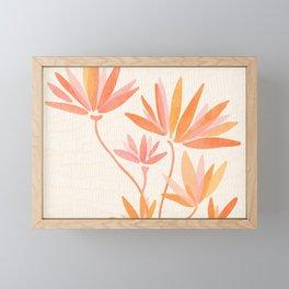 Basking In The Summer Sun / Japanese Botanical Woodblock Framed Mini Art Print
