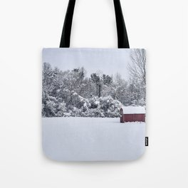Snowy Day, Bennington VT Tote Bag