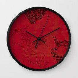 Creatures in red Wall Clock