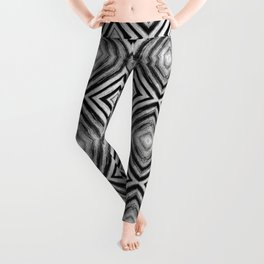 Black White Diamond Pattern Leggings