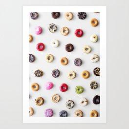 Colorful Donuts Art Print