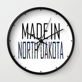 Made In North Dakota Wall Clock
