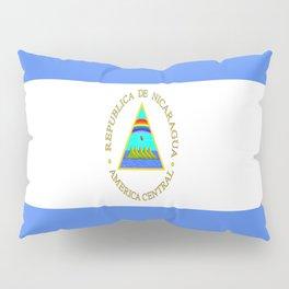 flag of nicaragua - Nicaraguans,Nicaragüense,Managua,Matagalpa,latine. Pillow Sham