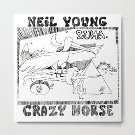 neil young crazy horse ori tour 2020 2021 ngamein Metal Print