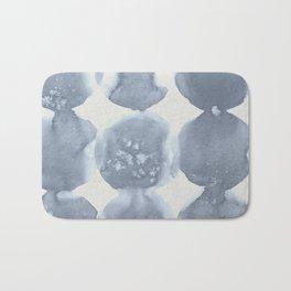Shibori Wabi Sabi Indigo Blue on Lunar Gray Bath Mat