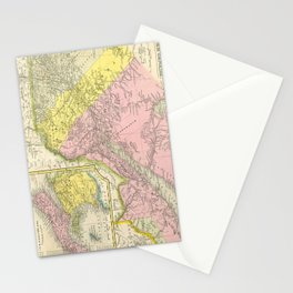 Vintage Map of Eastern Canada (1850) Stationery Cards
