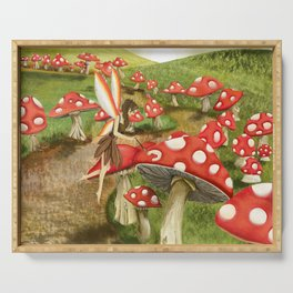 Toadstool Painting Serving Tray