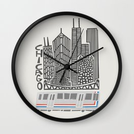 Chicago Cityscape Wall Clock