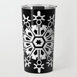 Snowflake Medallion B&W Travel Mug