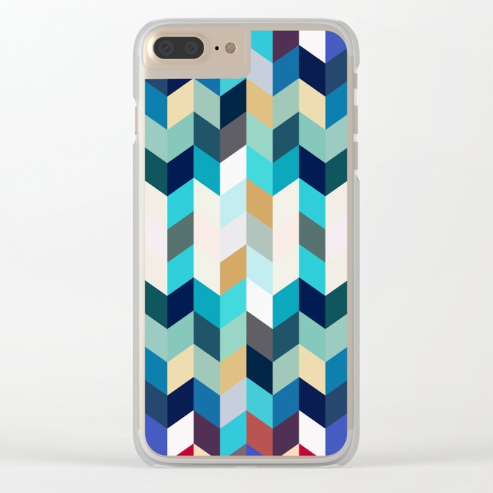 Colorful Geometric Background Clear iPhone Case