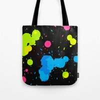 80s Tote Bags featuring The 80s by MY  HOME