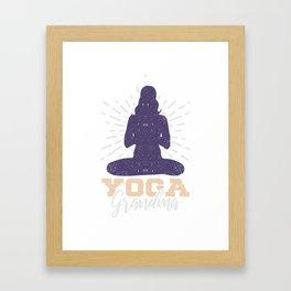 Yoga Großmutter Geschenk Framed Art Print
