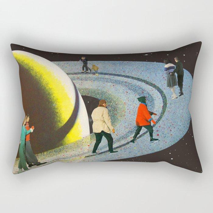 Saturn's Rink Rectangular Pillow