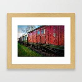 Old Train Wagon Framed Art Print