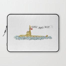 Love Runs Deep - Submarine Art Laptop Sleeve