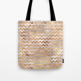 Elegant chic faux gold chevron marble pattern Tote Bag
