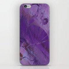 Purple Fan  iPhone & iPod Skin