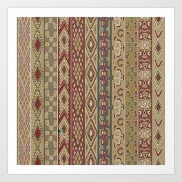 Navajo Geometric Pattern 1 Art Print