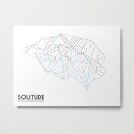 Solitude, UT - Minimalist Winter Trail Art Metal Print