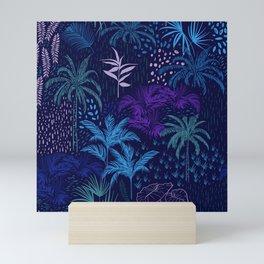 deep blue tropics Mini Art Print