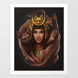 Egyptian Goddess Cardi B Art Print