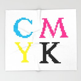 CMYK Throw Blanket