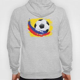 Football Ball and red, blue and yellow Strokes Hoody