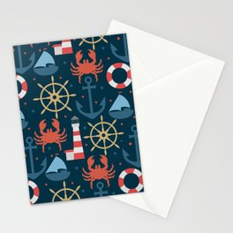 Sea blue pattern Stationery Cards